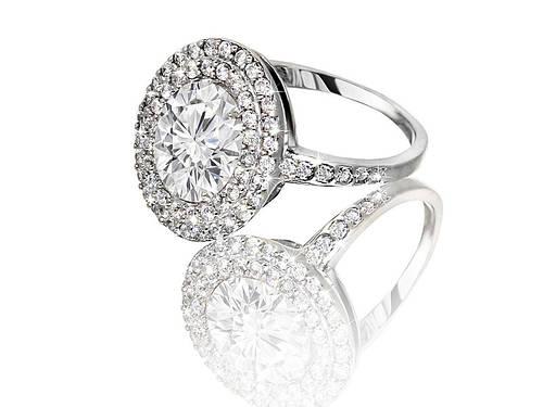Серебряное родированное помолвочное кольцо солитер с одним камнем усыпка россыпь цирконием, фианитом к00173кв