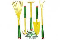 Набор садовый из 5 предметов (металлические с пластмассовыми рукоятками)
