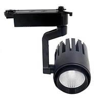 Светодиодный трековый светильник SL 30TRL/CW2 30W 6000К черный Код.58563