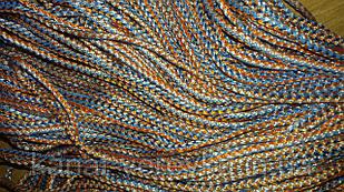 Вязаный полипропиленовый шнур 6 мм, веревка.