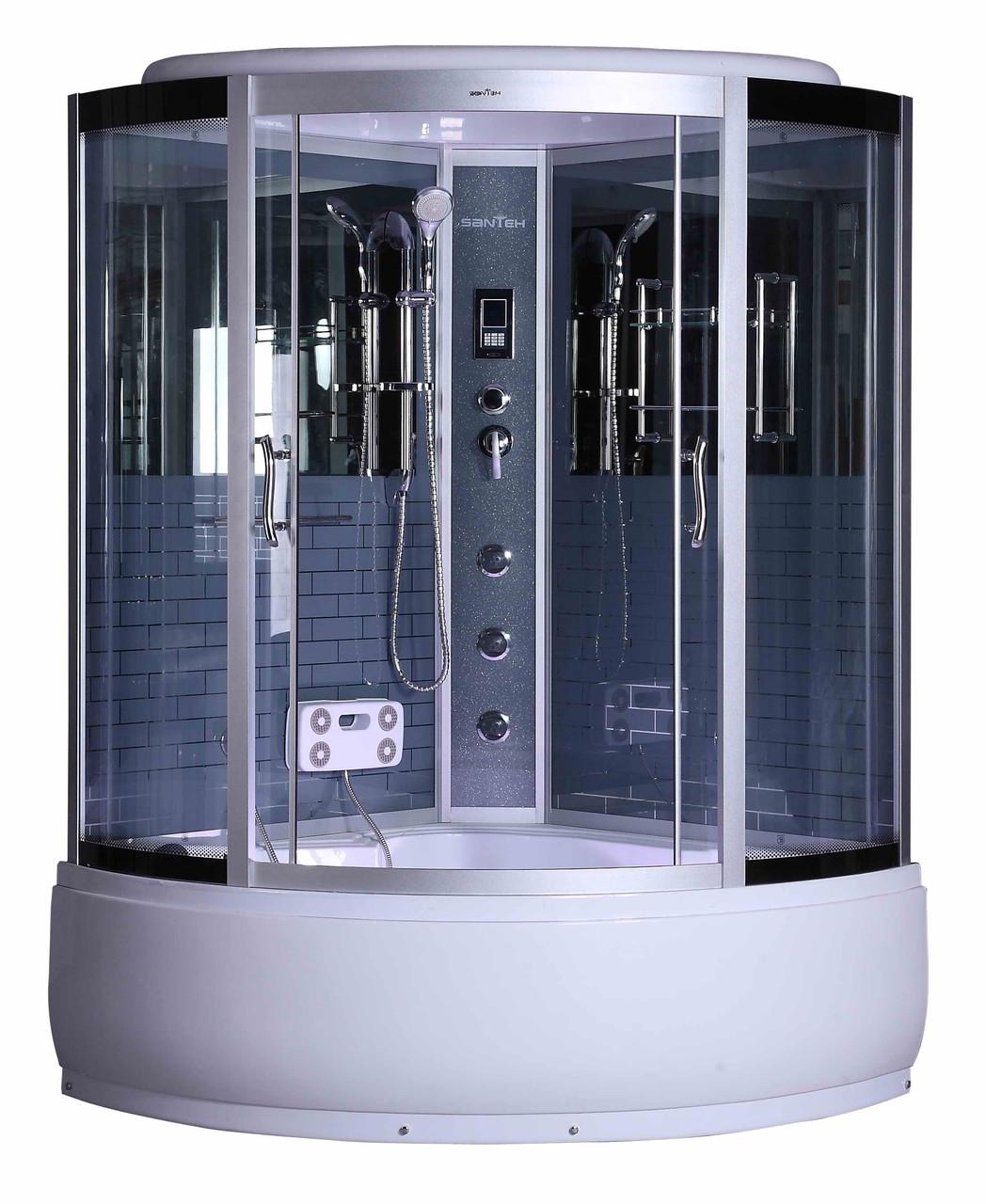 Гидромассажный бокс BADICO SAN 184 G 120х120х215 с глубоким поддоном