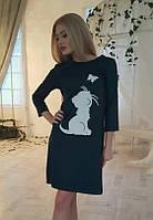 Платье женское принт котенок