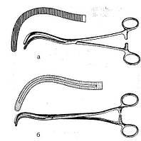 Зажим ФЁДОРОВА для почечной ножки большой , №2, 255 мм. Aesculap (Германия)