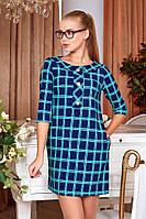 Платье женское Шелли в клетку, синие,розовое,, фото 1