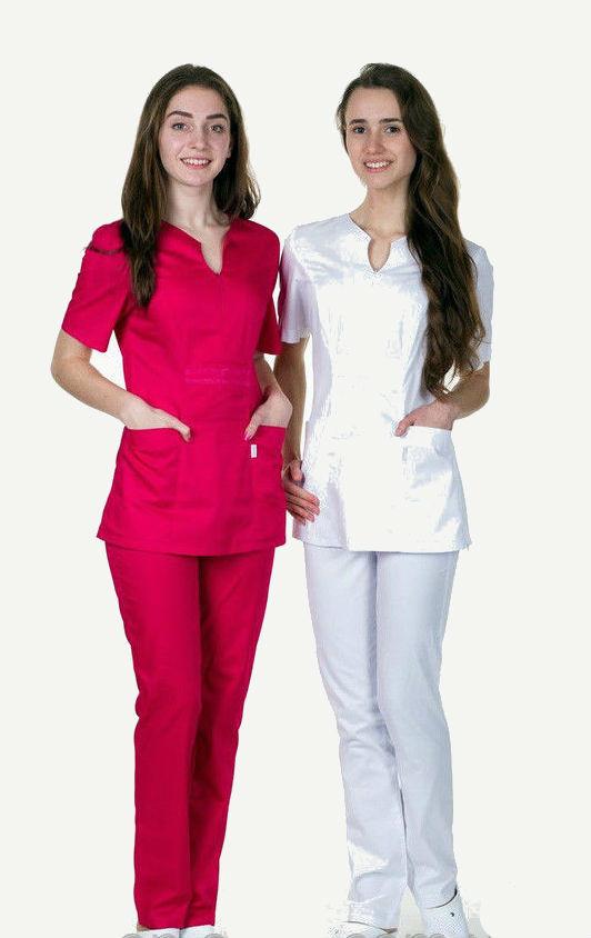 Жіночий медичний костюм, велика різноманітність кольорів, р. 40-56