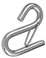 Нержавеющий крючек S-образный со страховочной защелкой