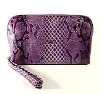 Косметичка кожаная женская клатч фиолетовая Desisan 064-15, фото 1