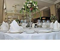 Cкатерть для стола  белая 140 х 140 см