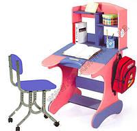 Комплект мебели Детский стол KD-318 и стул KDH-04 синий Goodwin