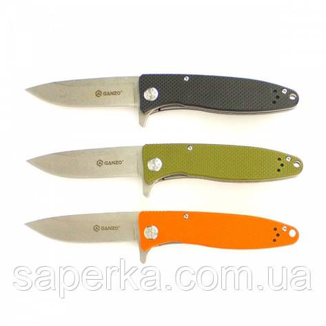 Нож Ganzo G728 (черный, зеленый, оранжевый), фото 2