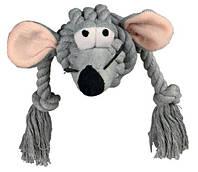 """Игрушка  """"Мышь на канате"""" 34см, ткань, для собак и щенков"""