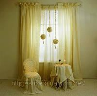 Пошив штор на заказ легкие светлые щторы