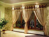 Пошив штор, гардины для окон, шторы и гардины киев, жалюзи гардины, гардины из органзы