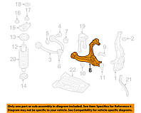 Рычаг нижний передний левый без шаровой опоры  (CHRYSLER 5168159AB)