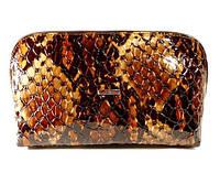 Косметичка кожаная женская клатч коричневая Desisan 064-18, фото 1