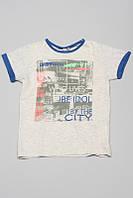 """Итальянская футболка с надписью  """"JBE IDOL"""" мал. серый, синий оранжевый 100 % котон 131BHFN004 BRUMS, И"""