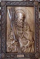 Панно резное Апостол Андрей из бука