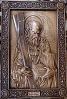 Панно резное Апостол Андрей из бука, фото 1