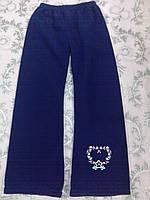 Флисовые синие штаны на девочку