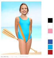 Детский спортивный купальник для девочки, для бассейна, в бассейн, слитный, сплошной, закрытый Keyzi 128