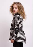 Детский пальто  со вставками кожи