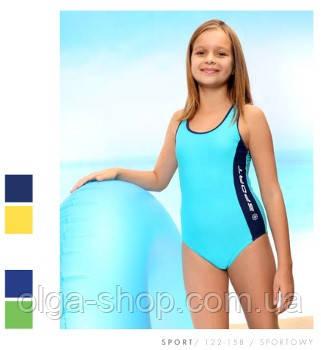fea265ce5d4e Детский спортивный купальник для девочки, для бассейна, в бассейн, слитный,  ...
