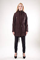 Парка-куртка коричневого цвета