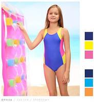 Детский спортивный купальник для девочки, для бассейна, в бассейн, слитный, сплошной, закрытый Keyzi , фото 1