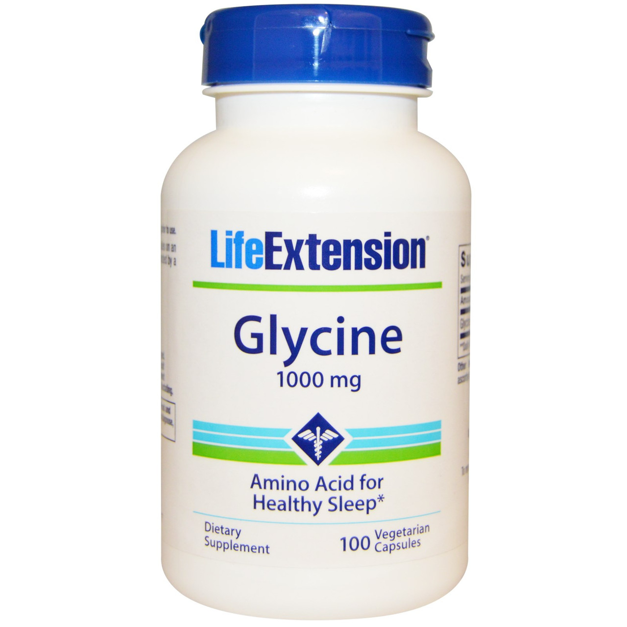 Глицин, 1000 мг, Life Extension, 100 вегетарианских капсул