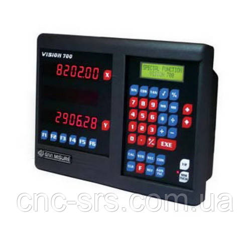 VI723L трехкоординатное устройство цифровой индикации с дополнительным LCD дисплеем