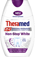 Зубная паста-ополаскиватель с отбеливающим эффектом Theramed Non-Stop White 2in1 Zahncreme+Mundspulung 75 мл.