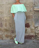 Летнее платье макси свободный силуэт, фото 1