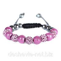 Купить черный браслет шамбала женский  дешево Арт. 01brblack-purple