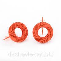 Серьги женские оранжевого цвета Арт.012SRorange интернет-магазин сережек бижутерия