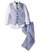 Нарядный костюм тройка с галстуком на мальчика 2-7 лет