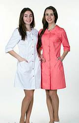 Жіночий медичний халат, велика різноманітність кольорів, р. 40-60