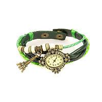 Яркие зеленые часы женские Арт.nn1991green