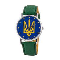 Часы унисекс Украина недорого Арт.UK-002green-bl