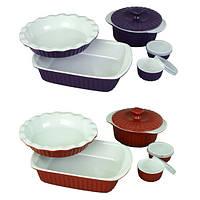 Набор керамической посуды для запекания 8 предметов 6106 купить набор форм для выпечки