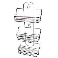Недорогая полочка для ванной прямоугольная раскладная 58*26*12см Арт. 0283