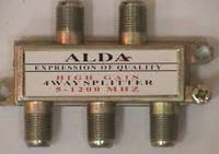 Splitter 4-way Alda, корпус металлический