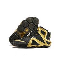 Кроссовки баскетбольные мужские Nike Lebron 12  черные c золотым кроссовки для баскетбола