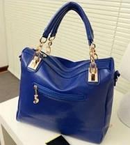 Замшевая сумка с заклепками, фото 3