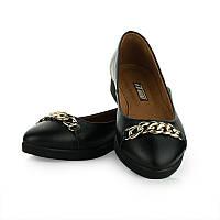 Кожаные балетки женские черного цвета Арт.5012-9black