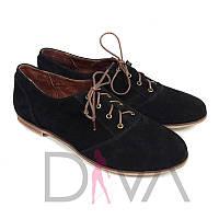 Туфли женские замшевые Арт.50091-5black купить женскую обувь оптом недорого