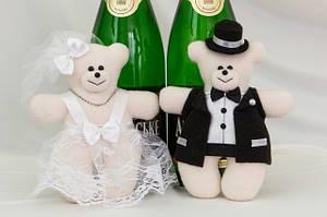 Декор свадебного шампанского