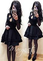 Красивое платье пышная юбка на груди вырезы. Расцветки АШ-002.024