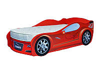 Детская кровать машина Ягуар красная