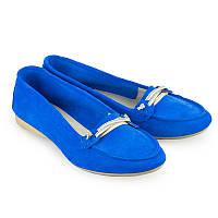 Стильные мокасины Бальдинини женские замшевые мода лето 2017 Арт.5006-10L.blue