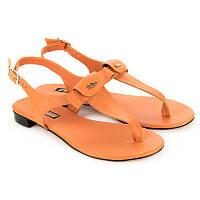 Оранжевые босоножки женские кожаные Арт. 4019-5orange купить женские босножки оптом
